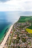 Dahme aus der Luft, Ostsee, Schleswig-Holstein, Deutschland