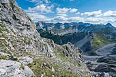 Die Bergstation am Hafelekar über der Stadt von Innsbruck, Tirol, Österreich