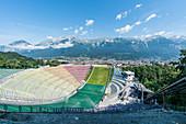 The ski jumping stadium at Bergisel in Innsbruck, Tyrol, Austria