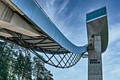 The ski jumping tower on Bergisel in Innsbruck, Tyrol, Austria