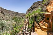 Wohnhöhlen in der Guayadeque Schlucht, Osten von Gran Canaria, Spanien