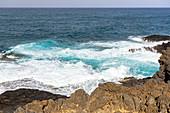 Küste im Ort La Garita (Ostküste), nahe El Bufadero Wasser Pool, Gran Canaria, Spanien