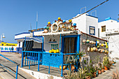 Colorful hut in the port town of Agaete in the west of Gran Canaria, Spain
