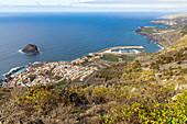 Viewpoint on Garachico, northwestern Tenerife, Spain