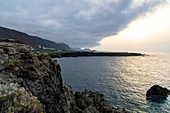 Coast at San Marcos, near Icod de los Vinos at sunset, north-west of Tenerife, Spain