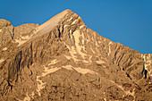 Alpspitze in the morning light, Werdenfelser Land, Werdenfels, Bavarian Alps, Upper Bavaria, Bavaria, Germany