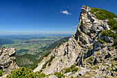 Cliffs at the Hohe Kisten, Hohe Kisten, Estergebirge, Bavarian Alps, Upper Bavaria, Bavaria, Germany