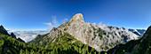 Panoramic view of Pizzocco, Belluno Dolomites, Belluno Dolomites National Park, UNESCO World Heritage Dolomites, Veneto, Veneto, Italy