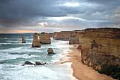 Twelve Apostles on the Great Ocean Road in Victoria, Australia.