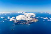 Luftbild der Insel Porto Santo vor Madeira, Portugal