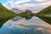 Dawn at Volaia Lake, Carnic Alps, Lesachtal, Carinthia, Austria.