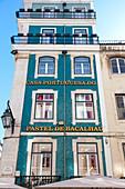 A traditional buiding in Rua Augusta (Augusta Street), Baixa Neighborhood, Lisbon, Lisbon Metropolitan Area, Portugal