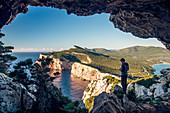 Vasi Rotti cave, Capo Caccia, Alghero, Sassari province, Sardinia, Italy, Europe.