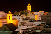 Vejer de la Frontera at night, Cadiz province, Costa de la Luz, Andalusia, Spain, Europe