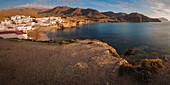 Isleta del Moro and the coast of Cabo de Gata National Park from Punta de Loma Pelada, Almeria Province, Region Andalucia, Spain, Europe