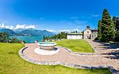Piona Abbey(Abbazia Priorato di Piona), Province of Lecco, Como Lake, Italy, Europe.