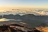 Spain,Canary Islands,Tenerife,Pico de Teide,view from the top of the Teide volcano at dawn