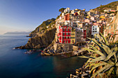 Late Afternoon in Riomaggiore, one of the Cinque Terre, from a classic point of view, Riomaggiore, Liguria, Italy