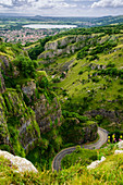 Mendip Hills Area of Outstanding Natural Beauty, Cheddar Gorge, Cheddar, England, UK