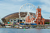 Cardiff harbour, Cardiff, wales, uk