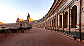 Plaza de Espana at sunrise, Sevilla district, Andalucia, Spain