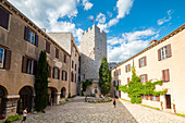 The courtyard of Duino Castle, Duino, province of Trieste, Friuli Venezia Giulia, Italy
