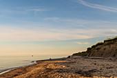 Evening idyll on the steep coast of Siggen, Baltic Sea, Ostholstein, Schleswig-Holstein, Germany