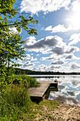 Badesteg am Stendorfer See, Stendorf, Ostholstein, Schleswig-Holstein, Deutschland