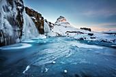 Waterfall at Kirkjufell, Grundarfjörður, Snæfellsnes peninsula, Vesturland region, Iceland, Northern Europe