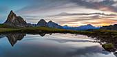 Passo Giau at sunrise, Belluno, San Vito di Cadore, Ampezzo Dolomites, Veneto, Italy, Western Europe