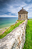 View of the Mussenden temple and the Downhill beach below. Castlerock, County Antrim, Ulster region, Northern Ireland, United Kingdom.