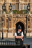 United Kingdom, London, Westminster, entrance of Parliament