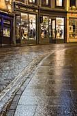 United Kingdom, Scotland, Edinburgh, listed as World Heritage, Victoria Street by night