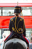 United Kingdom, London, Westminster district, Whitehall, woman Horse Guard