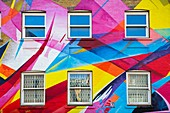 United Kingdom, London, Whitechapel / Brick Lanedistrict, Brick Lane, colorful mural