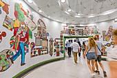 United Kingdom, London, London Underground, mosaic artwork by Eduardo Paolozzi in Tottenham Court Road station