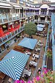 United Kingdom, London, Soho district, Carnaby Street, Kingly Court, foodie destination, bars, restaurants, terraces