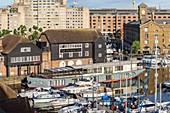 United Kingdom, London, Tower Hamlets district, St Katharine docks