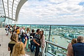 United Kingdom, London, City, Walkie Talkie tower, on the 35th floor, Sky Garden bar and restaurant, panoramic terrace
