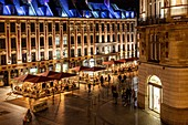 R TERRACES AT NIGHT, ESTAURANT MOREL J. ET FILS, PLACE DE L'OPERA, LILLE, NORD, FRANCE