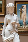 HEBE, CIRCA 1846, BY JEAN-PIERRE VICTOR HUGUENIN AND NAISSANCE DE VENUS FROM 1862 BY AMAURY-DUVAL, THE SMALL GALLERY, FINE ARTS PALACE, LILLE, NORD, FRANCE