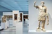 MARCUS AURELIUS, ROMAN EMPEROR (161-180 AD), GALLERY OF TIME, LOUVRE-LENS MUSEUM, LENS, PAS-DE-CALAIS, FRANCE