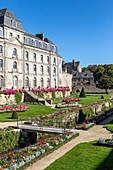 PARK AND GARDENS AT THE CHATEAU DE L'HERMINE, VANNES, (56) MORBIHAN, BRITTANY, FRANCE