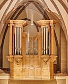 Baroque organ prospectus, St. Johann Baptist, Bad Honnef / Rhein, Germany