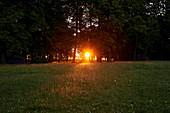 Sunset in Schmochtitz, Saxony, Germany