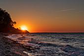 Sonnenuntergang an der Steilküste, Weissenhäuser Strand, Eitz, Ostsee, Ostholstein, Schleswig-Holstein, Deutschland