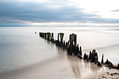 The quiet and calm Baltic Sea in the morning in Ostermade, Ostholstein, Schleswig-Holstein, Germany