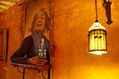 Dalifigur in a pub in Bratislava, Slovakia