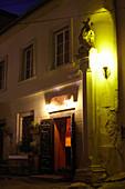 Pub at night, Bratislava, Slovakia