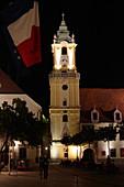 Old Town Hall at night, Bratislava, Slovakia